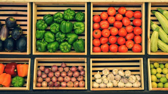 Einlagerung Obst und Gemüse